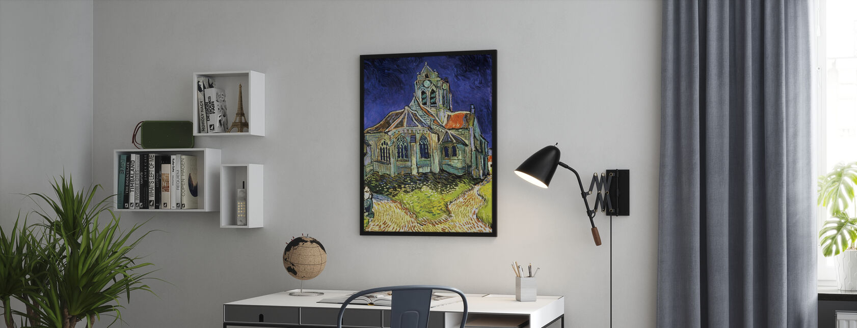 Church at Auvers-sur-Oise - Vincent van Gogh - Framed print - Office