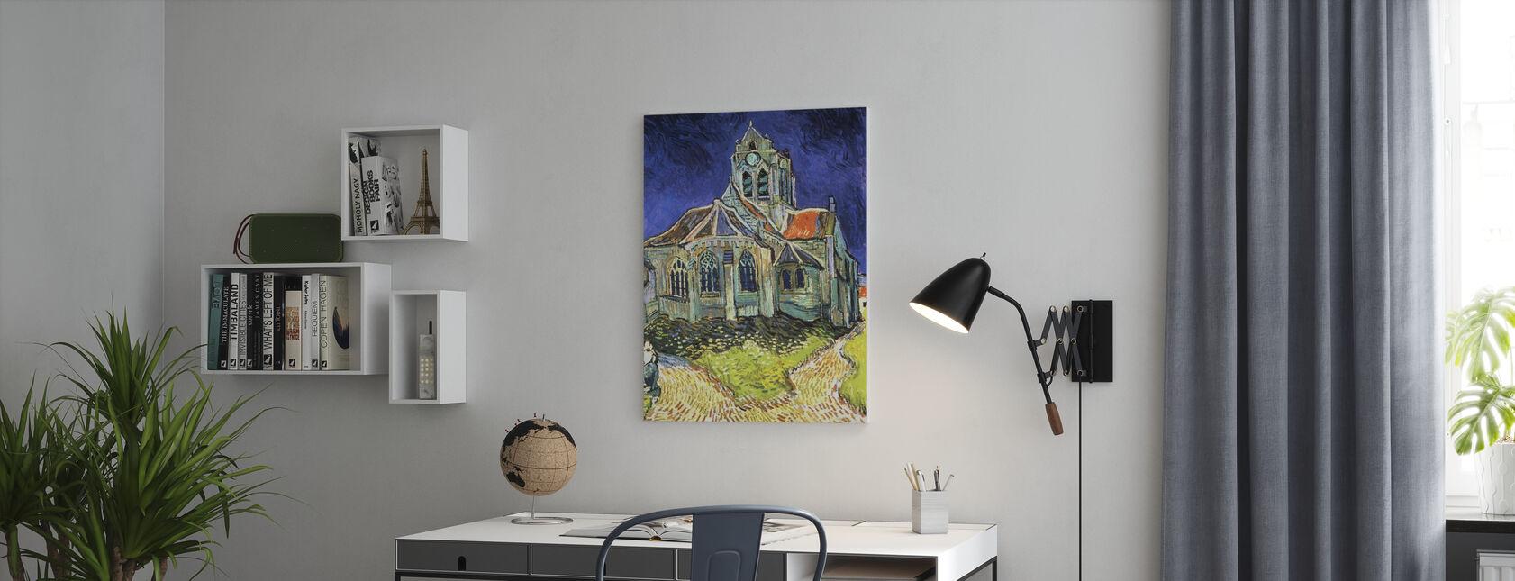 Église à Auvers-sur-Oise - Vincent van Gogh - Impression sur toile - Bureau