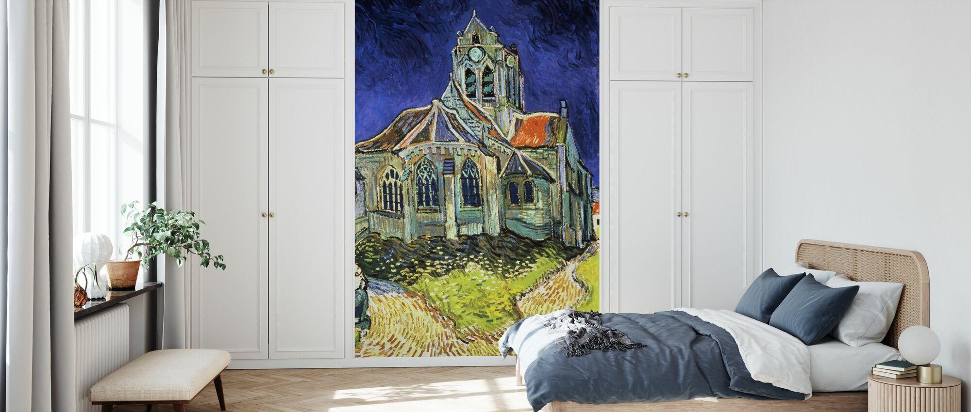 Kirke på Auvers-sur-Oise - Vincent van Gogh - Tapet - Soverom