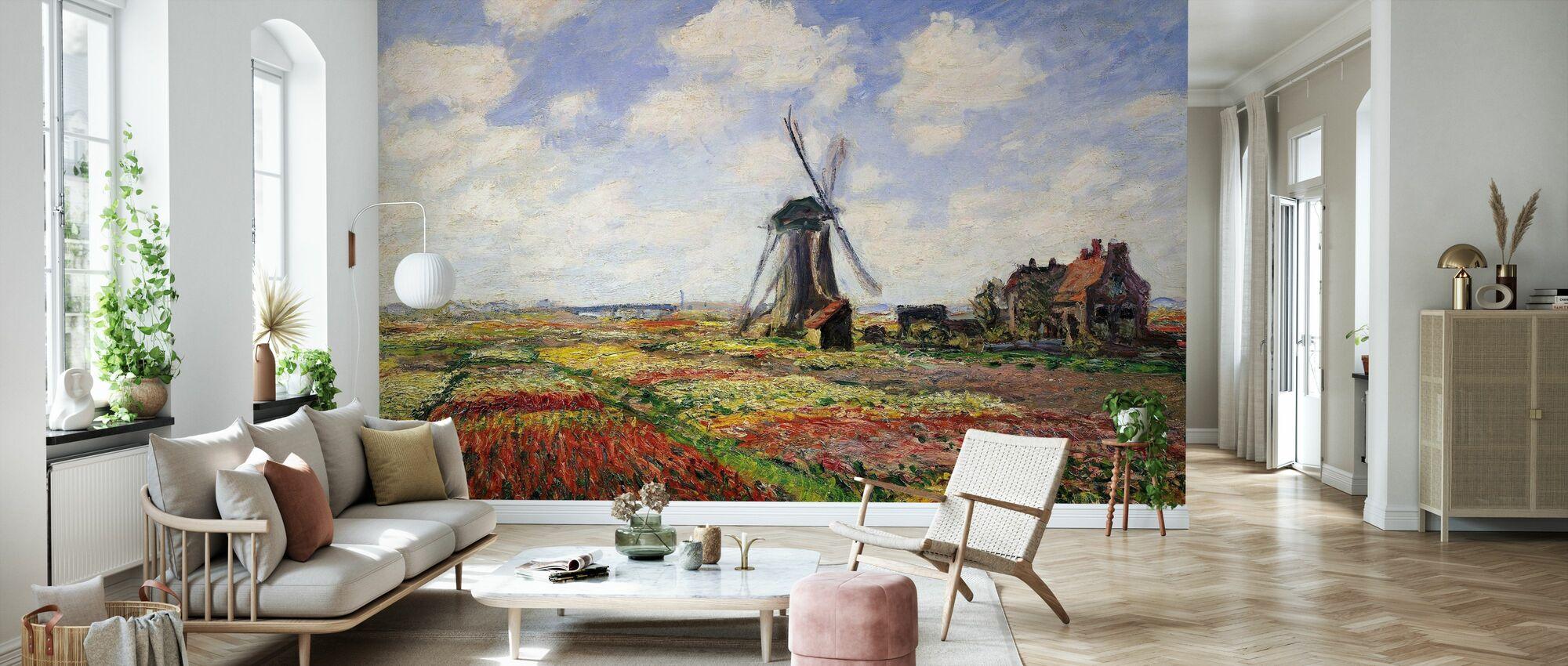 Tulip Fields, Claude Monet - Wallpaper - Living Room