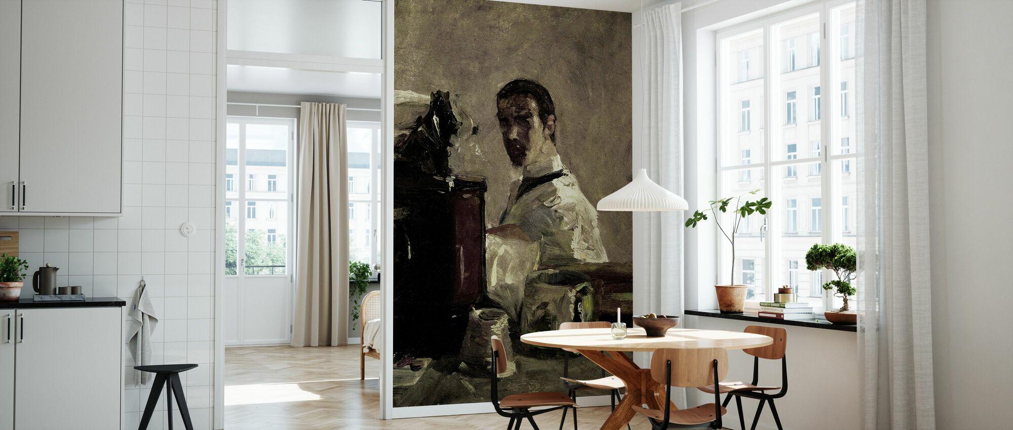 Selvportrett, Henri Toulouse Lautrec - Tapet - Kjøkken