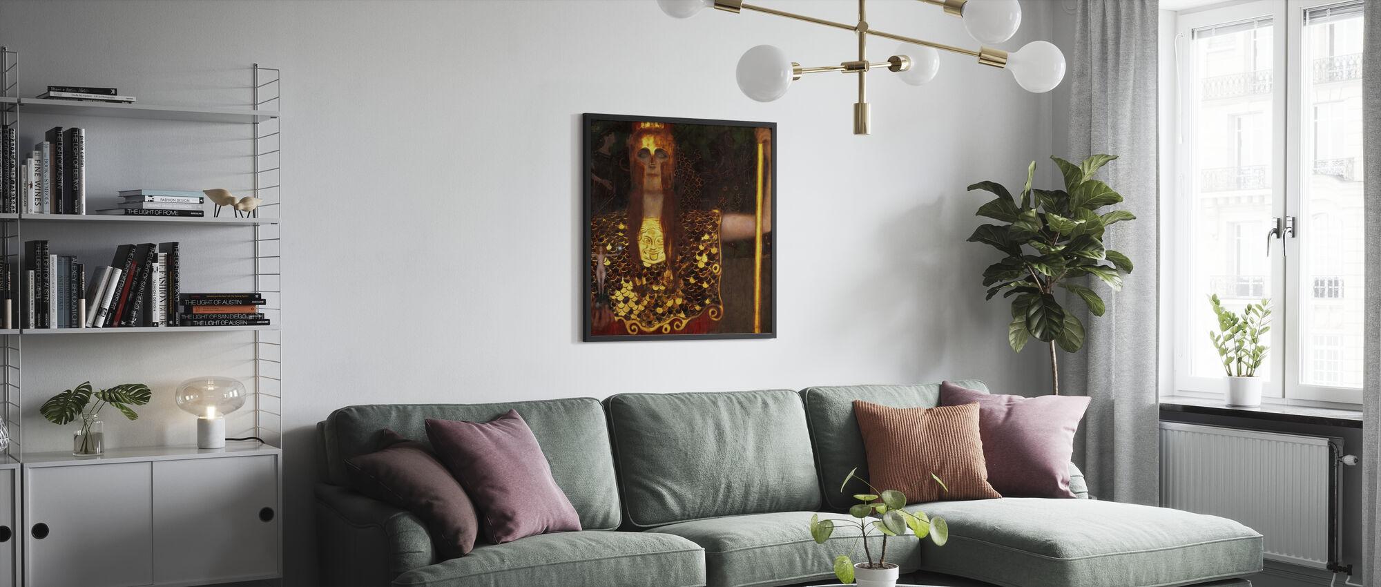 Minerva or Pallas Athena, Gustav Klimt - Poster - Living Room