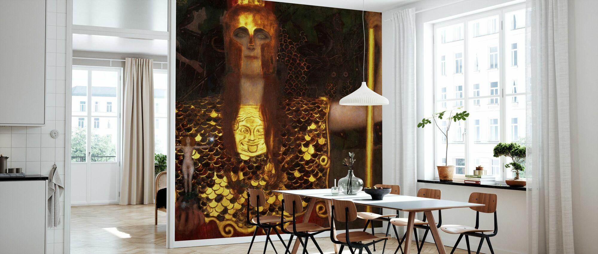 Minerva or Pallas Athena, Gustav Klimt - Wallpaper - Kitchen