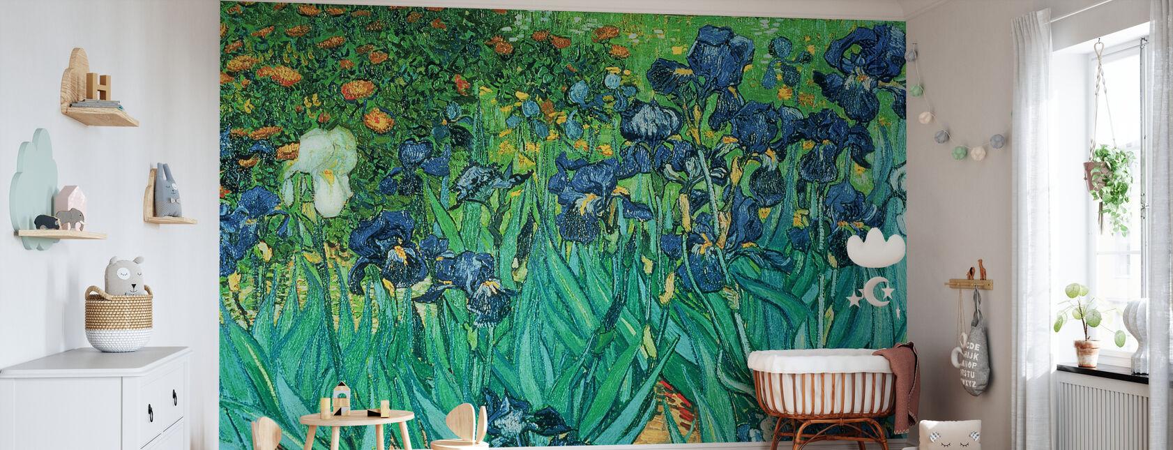 Irissen, Vincent van Gogh - Behang - Babykamer