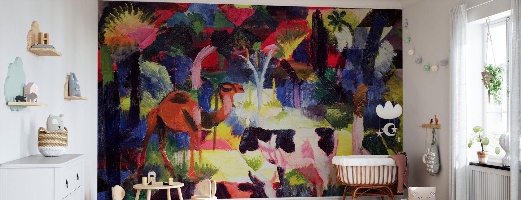 Vaches et un chameau, August Macke - Papier peint - Chambre de bébé