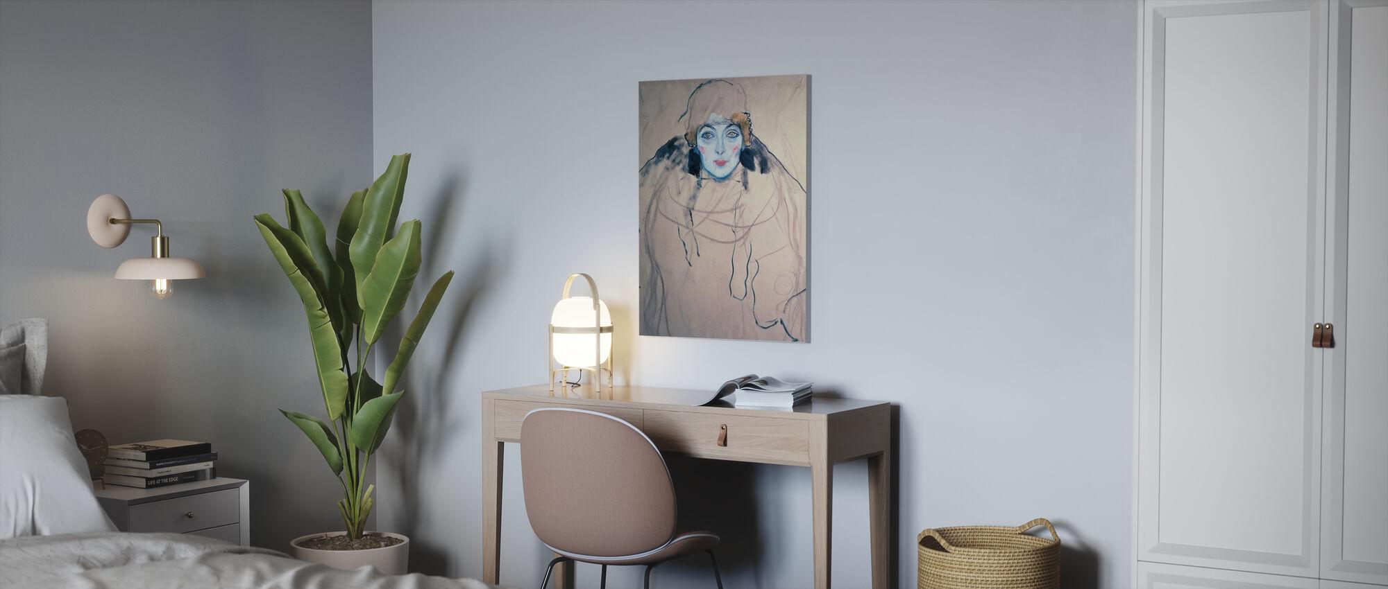 Head of a Woman, Gustav Klimt - Canvas print - Office