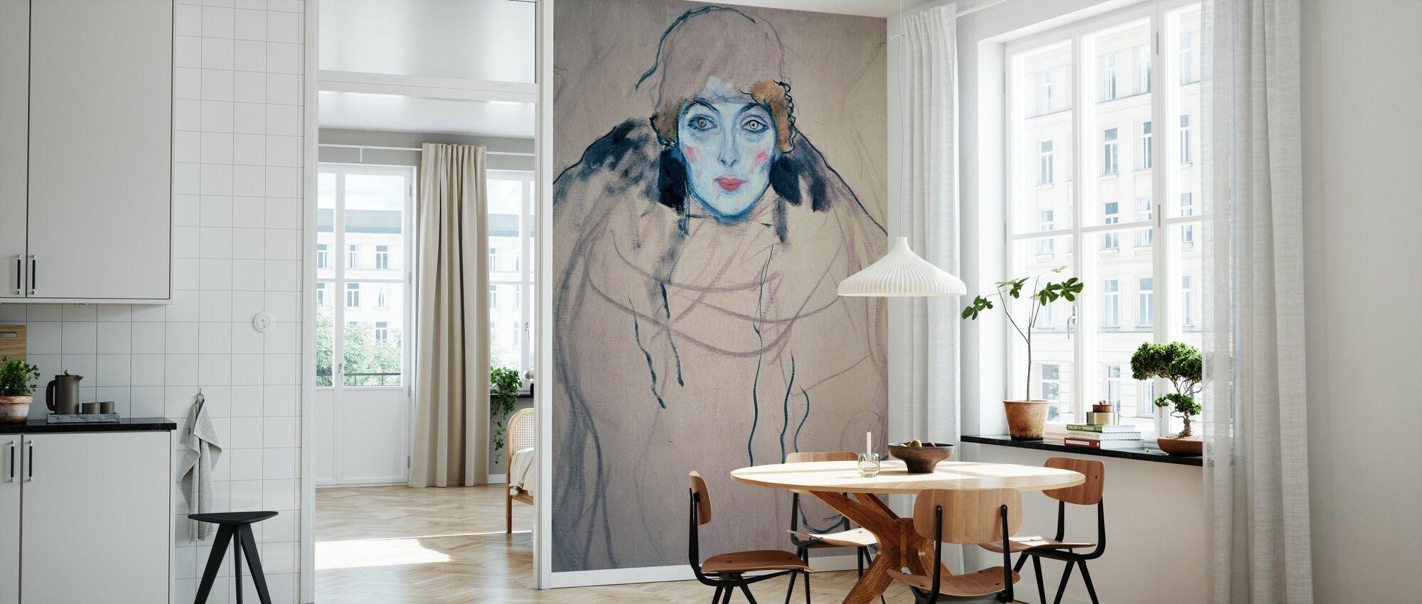 Head of a Woman, Gustav Klimt - Wallpaper - Kitchen