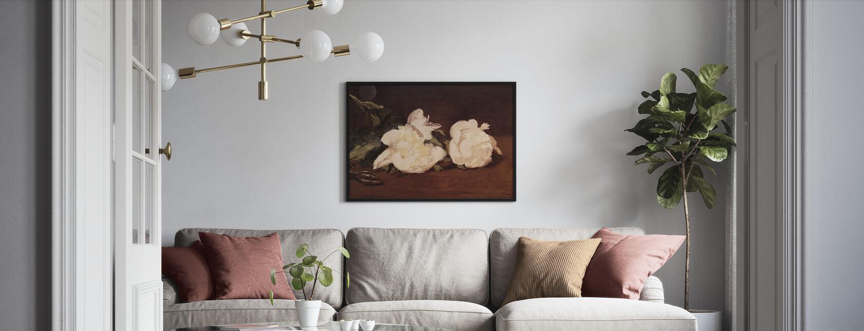 Valkoisten Peonien haara, Edouard Manet - Juliste - Olohuone