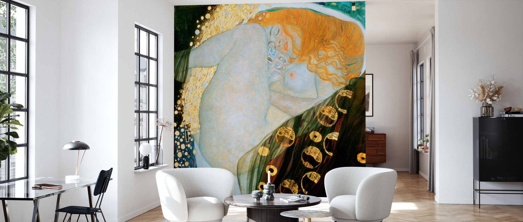 Danae, Gustav Klimt - Wallpaper - Living Room