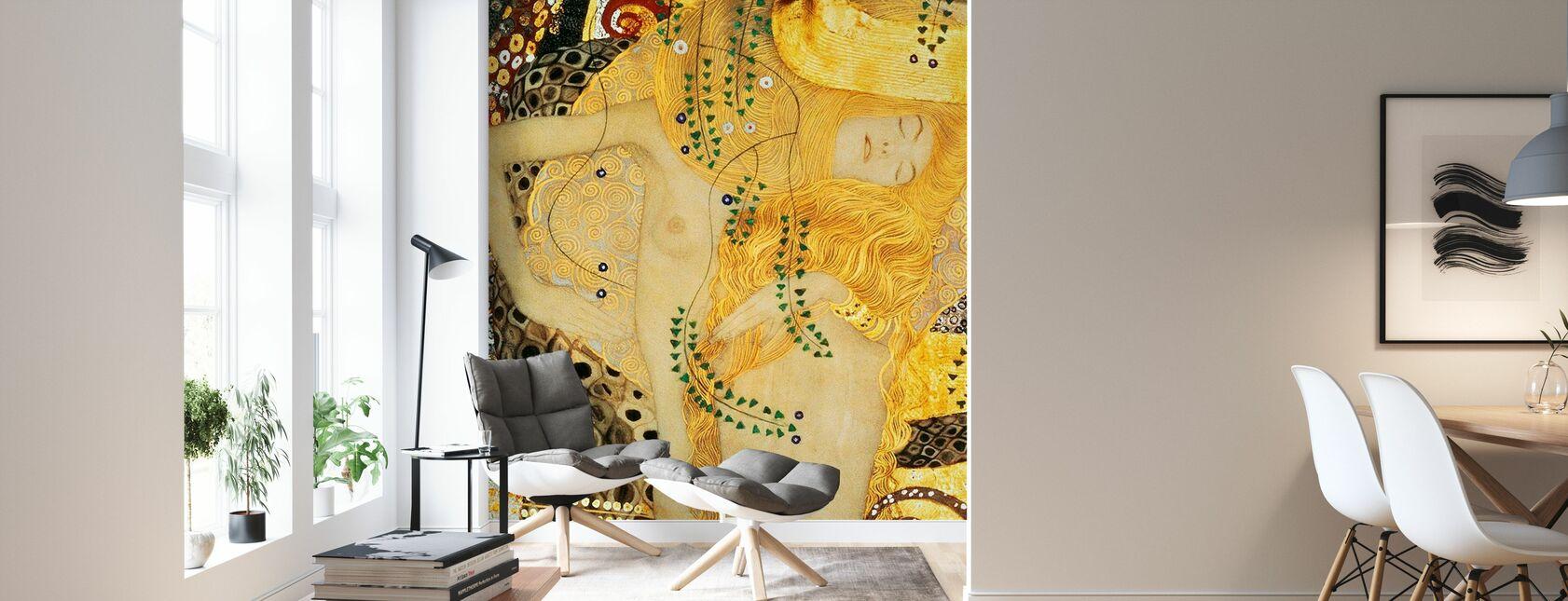 Water Serpents, Gustav Klimt - Wallpaper - Living Room