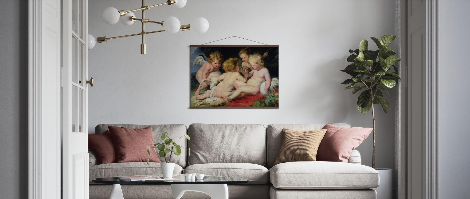 Infant Christ with John the Baptist, Peter Paul Rubens - Poster - Living Room