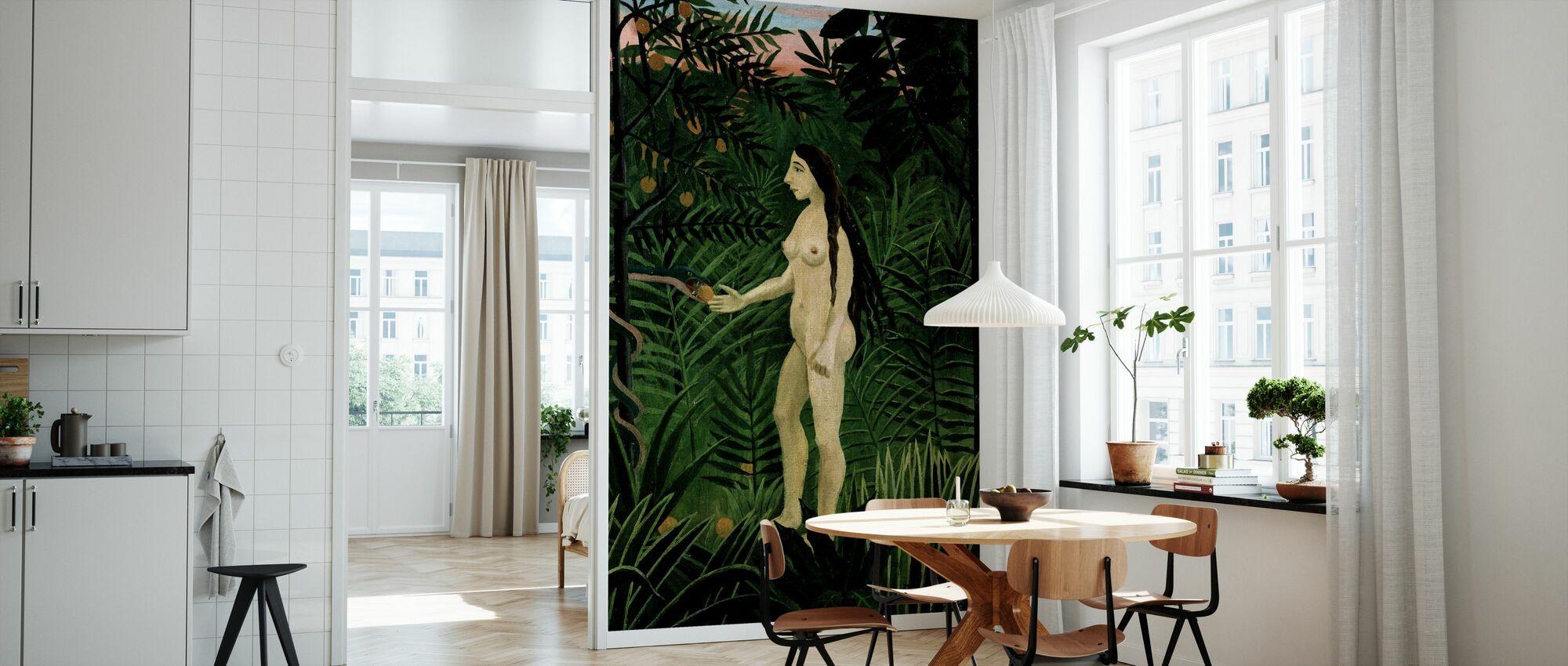Eve, Henri Rousseau - Wallpaper - Kitchen