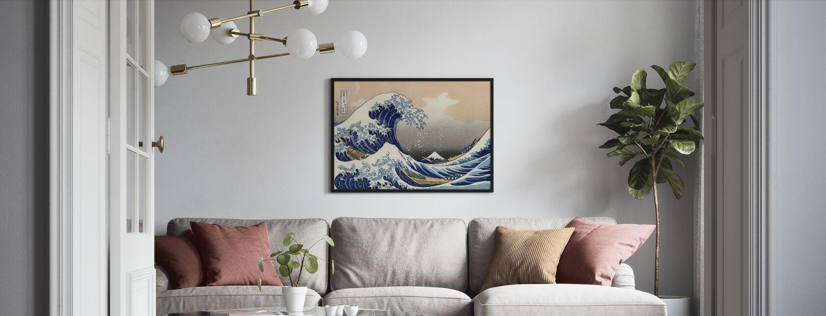 Grande Vague, Katsushika Hokusai - Impression encadree - Salle à manger