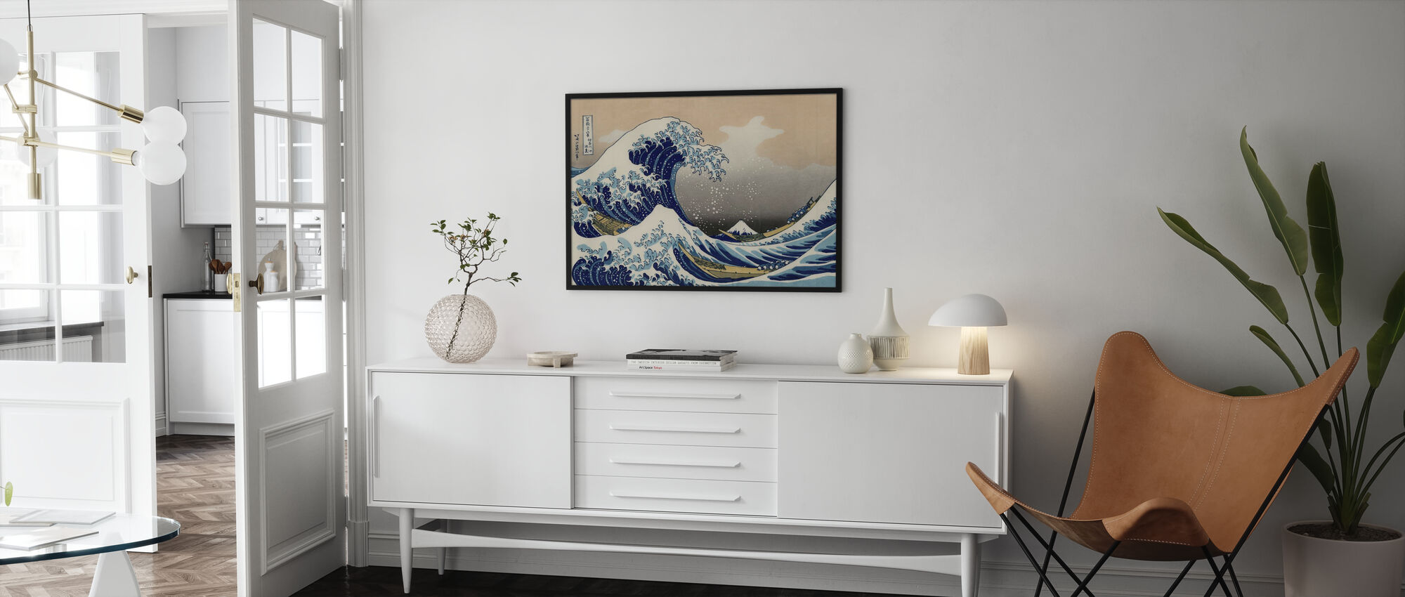 Suuri Aalto, Katsushika Hokusai - Juliste - Olohuone