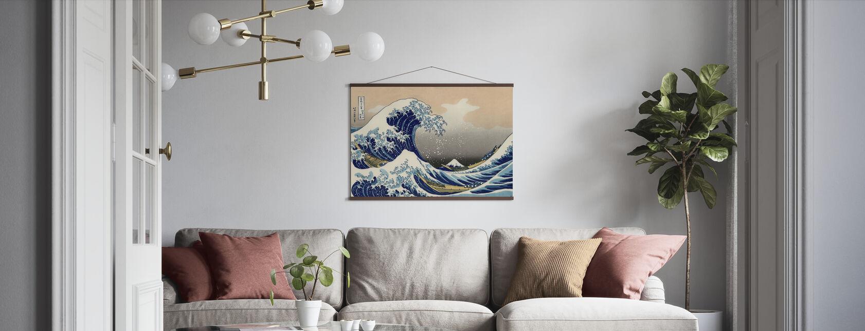 Stora Vågen, Katsushika Hokusai - Poster - Vardagsrum