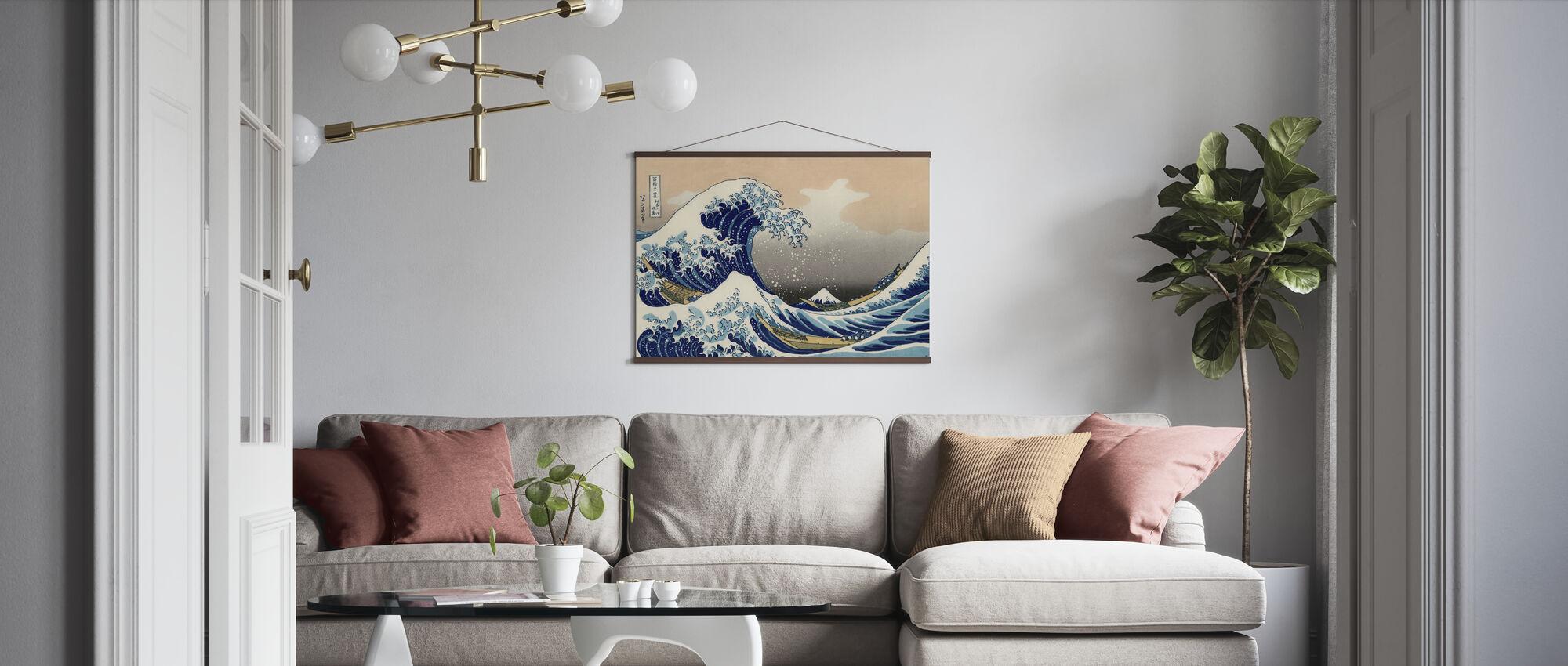 Great Wave, Katsushika Hokusai - Poster - Living Room