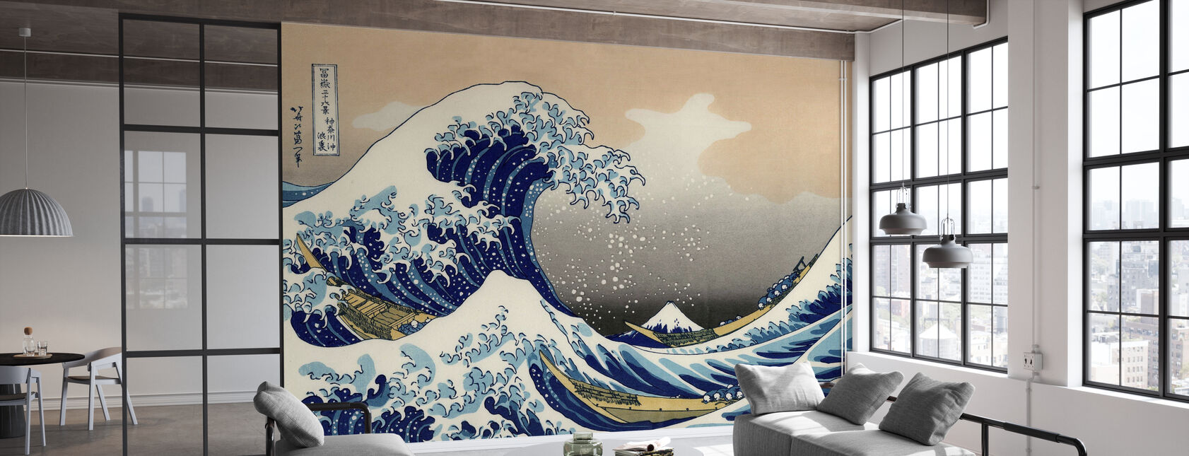 Suuri Aalto, Katsushika Hokusai - Tapetti - Toimisto