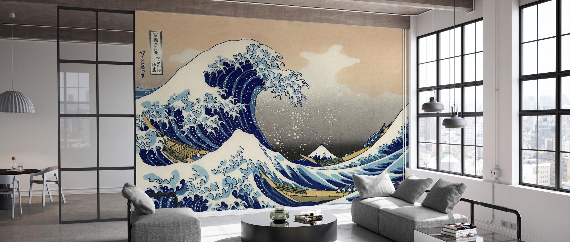 Große Welle, Katsushika Hokusai - Tapete - Büro