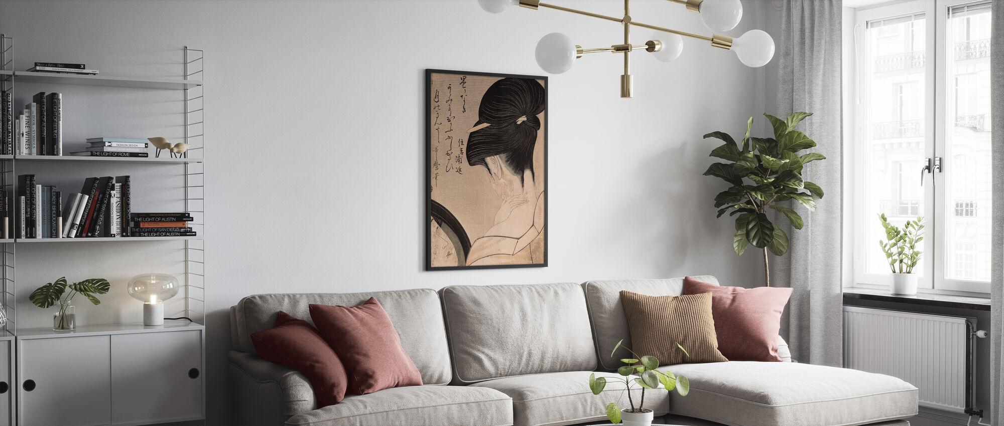 Woman Putting on Make-up, Kitagawa Utamaro - Poster - Living Room