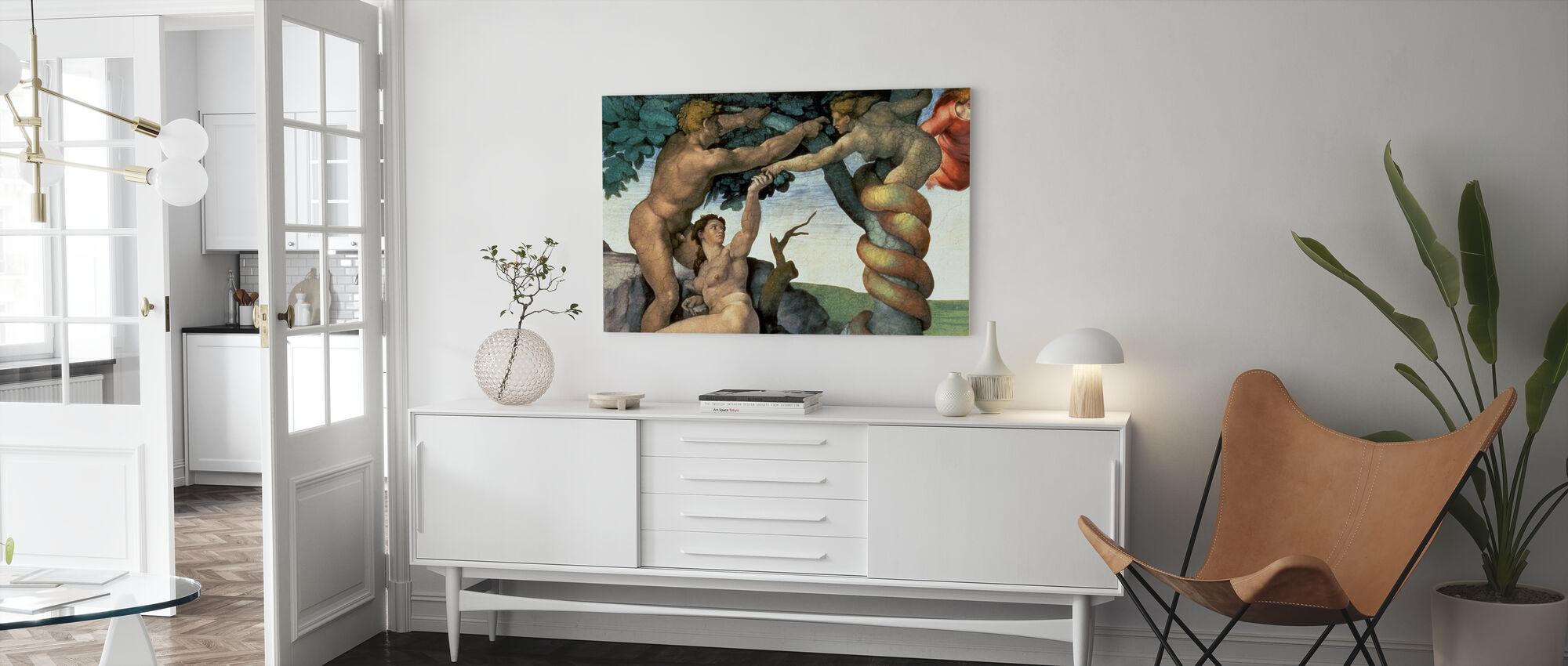 Chapelle Sixtine Plafond, Michel-Ange Buonarroti - Impression sur toile - Salle à manger