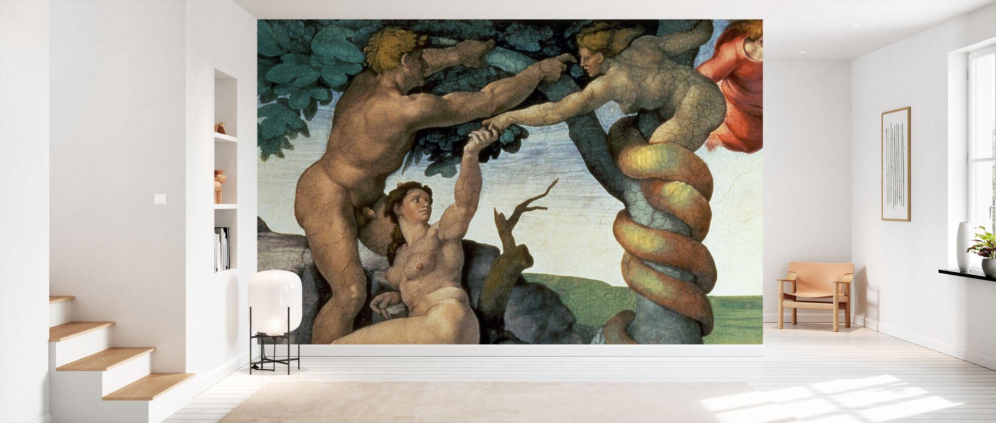Sistine Chapel Ceiling, Michelangelo Buonarroti - Wallpaper - Hallway