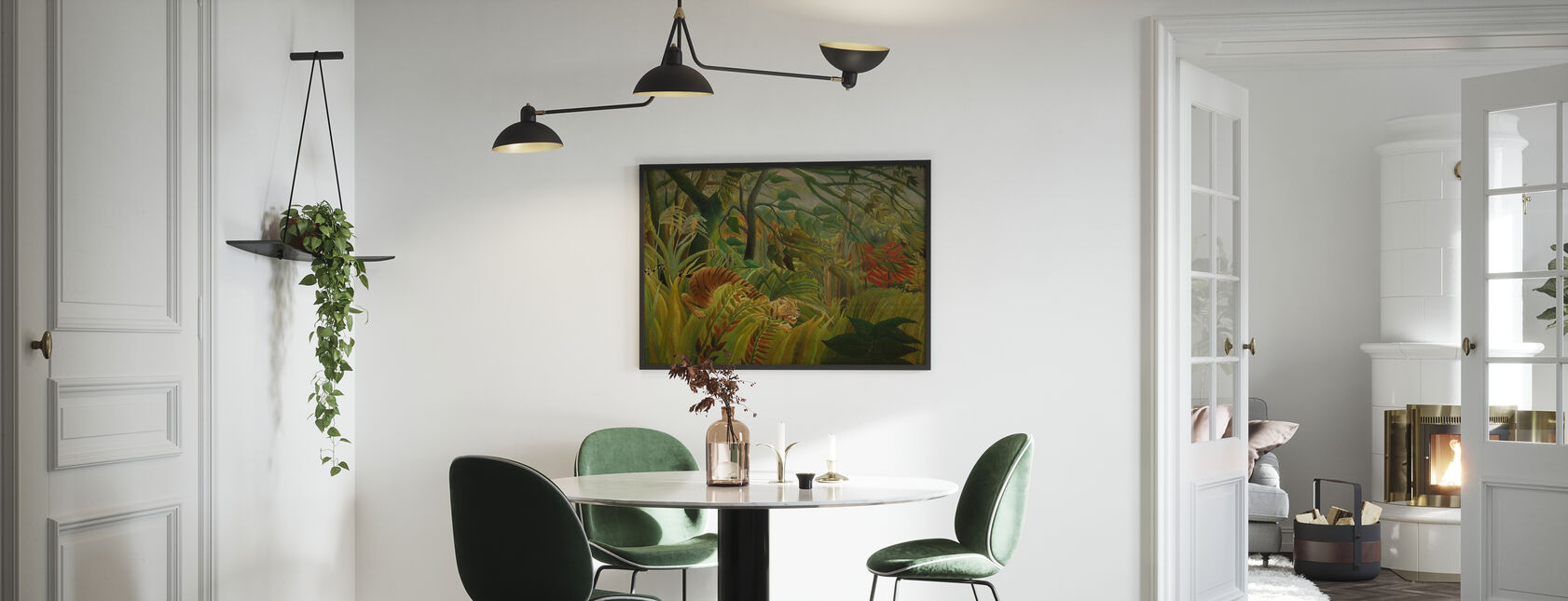 Tiger in a Tropical Storm, Henri Rousseau - Poster - Kitchen