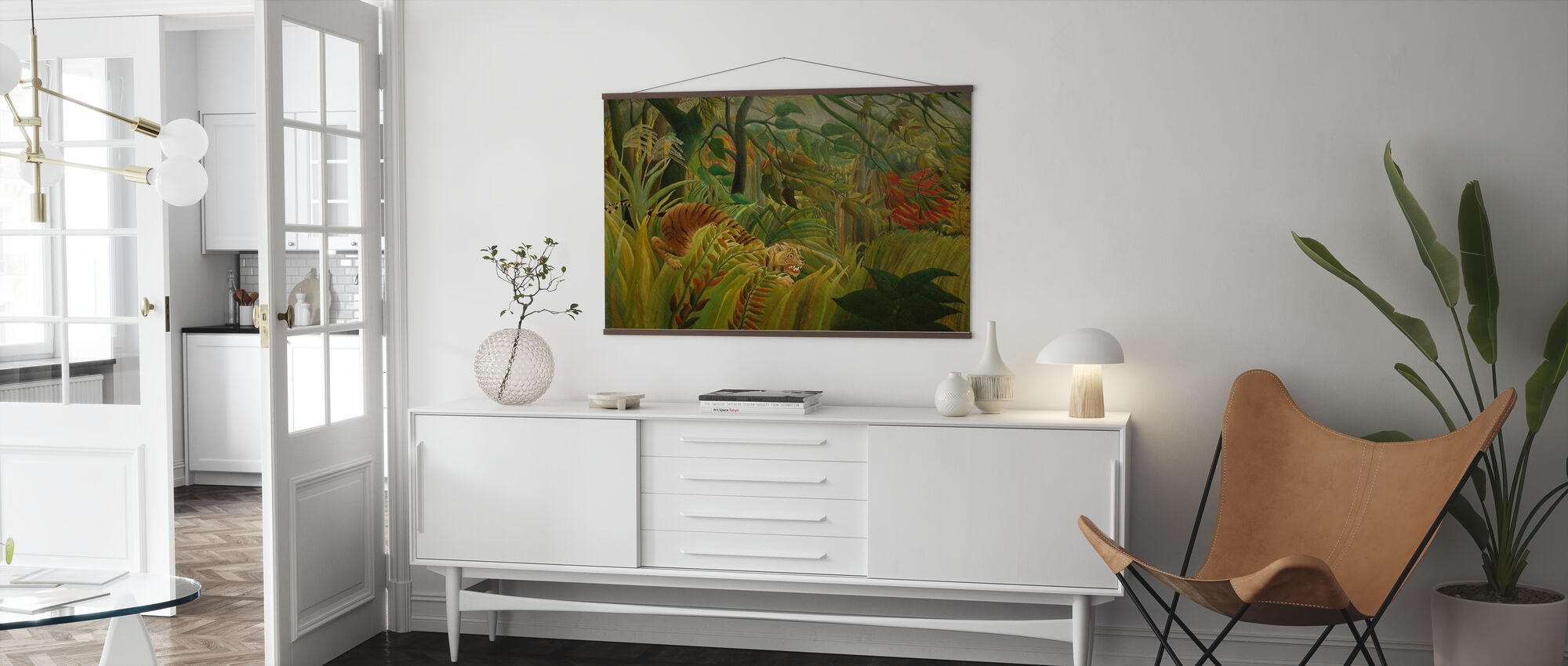 Tiger i en tropisk storm, Henri Rousseau - Plakat - Stue