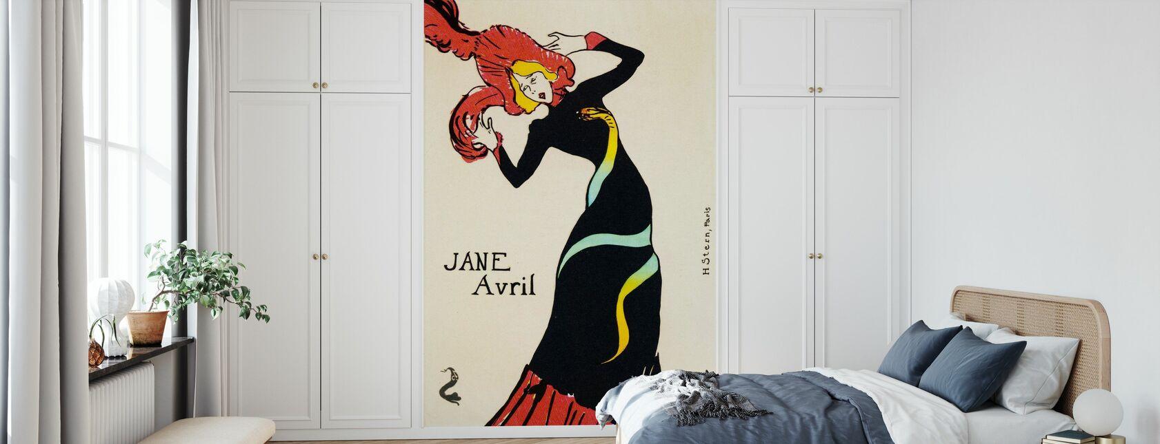 Jane Avril, Henri Tolosa Lautrec - Carta da parati - Camera da letto