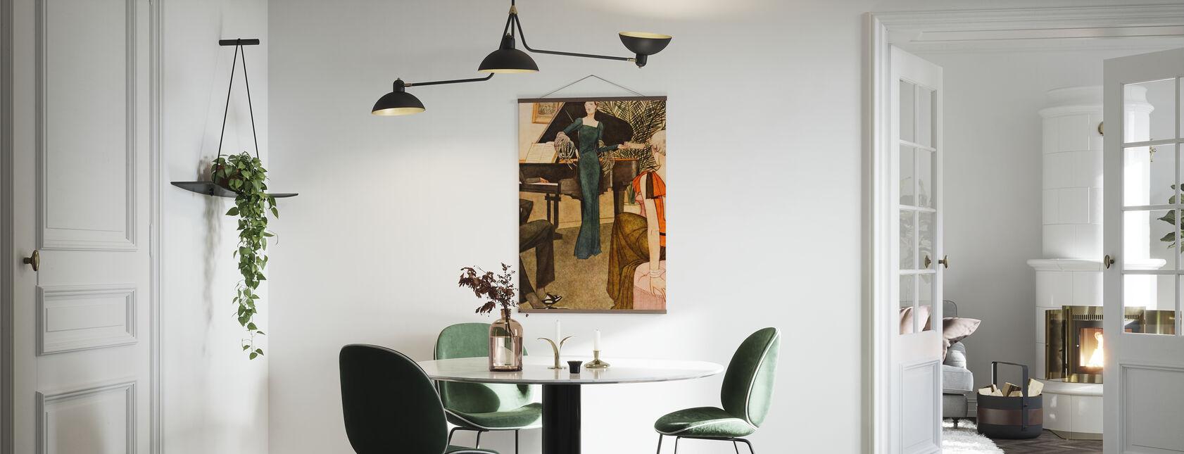 Lady diverte i suoi ospiti, Riviste nazionali - Poster - Cucina
