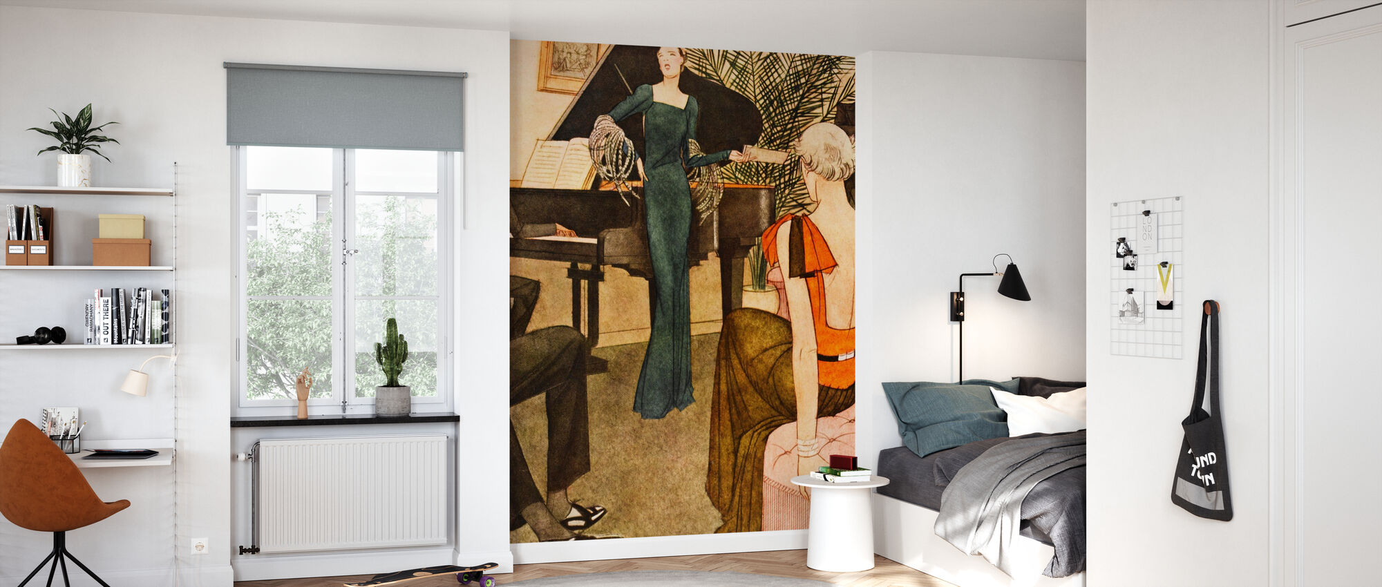 Lady Amuses her Guests, National Magazines - Wallpaper - Kids Room