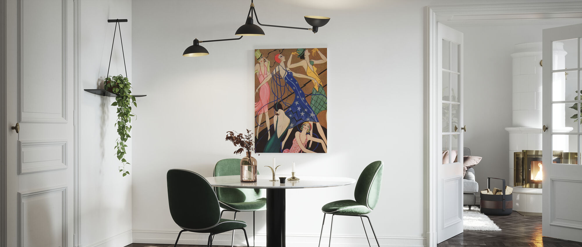 Models in Party Dresses, Gordon Conway - Canvas print - Kitchen