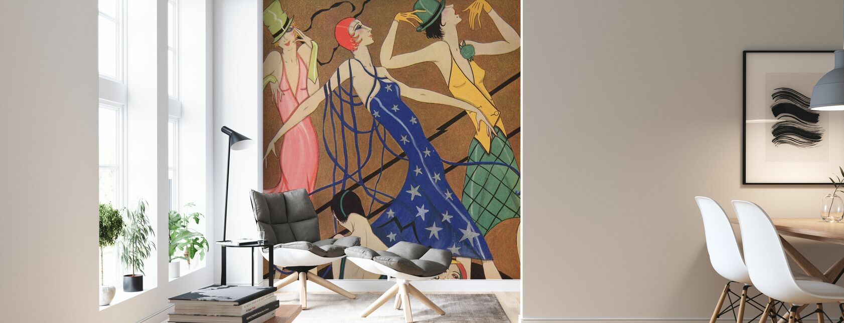 Models in Party Dresses, Gordon Conway - Wallpaper - Living Room