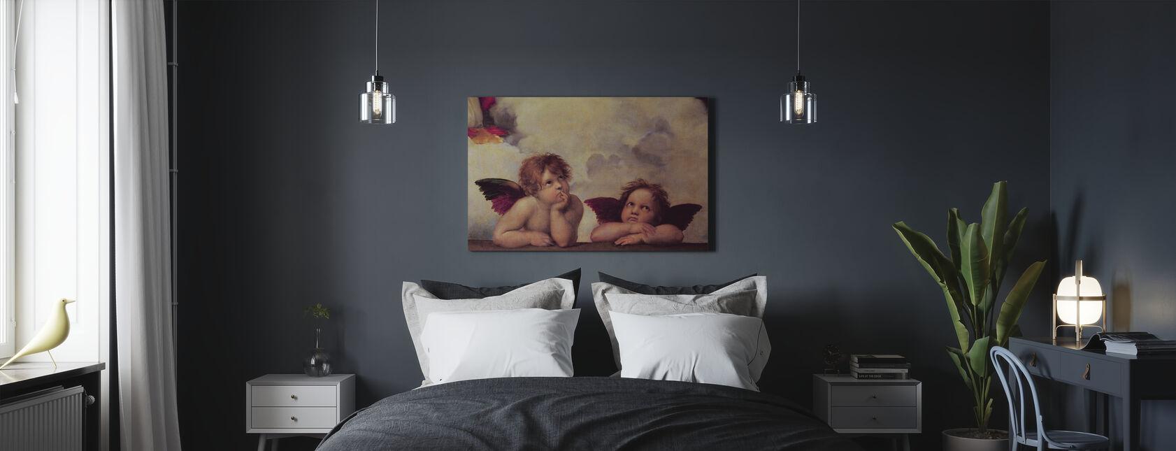 Due Angeli, Raffaello Santi - Stampa su tela - Camera da letto