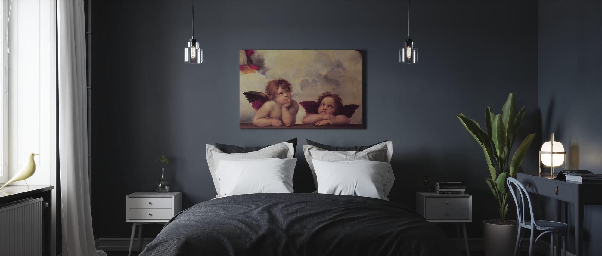 Twee Engelen, Raffaello Santi - Canvas print - Slaapkamer