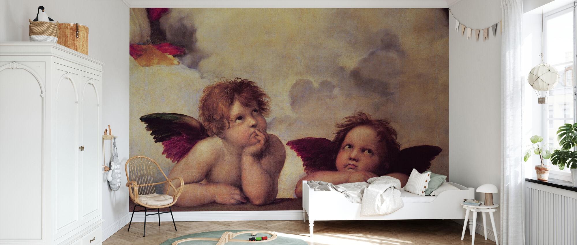 Two Angels, Raffaello Santi - Wallpaper - Kids Room