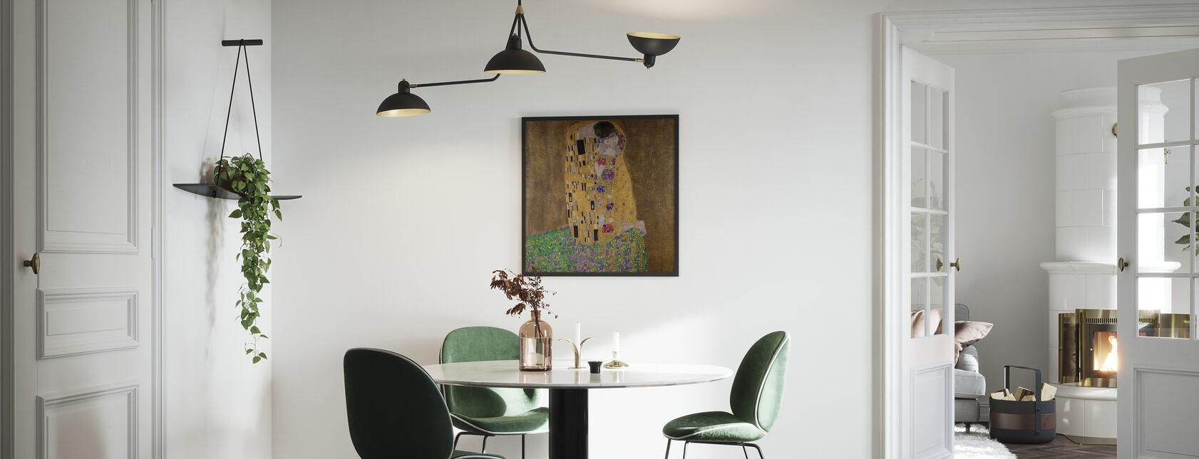The Kiss, Gustav Klimt - Framed print - Kitchen
