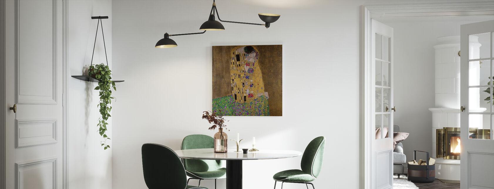 Le Kiss, Gustav Klimt - Impression sur toile - Cuisine