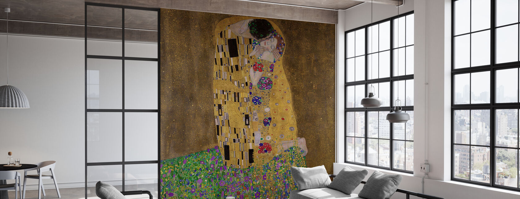 The Kiss, Gustav Klimt - Wallpaper - Office