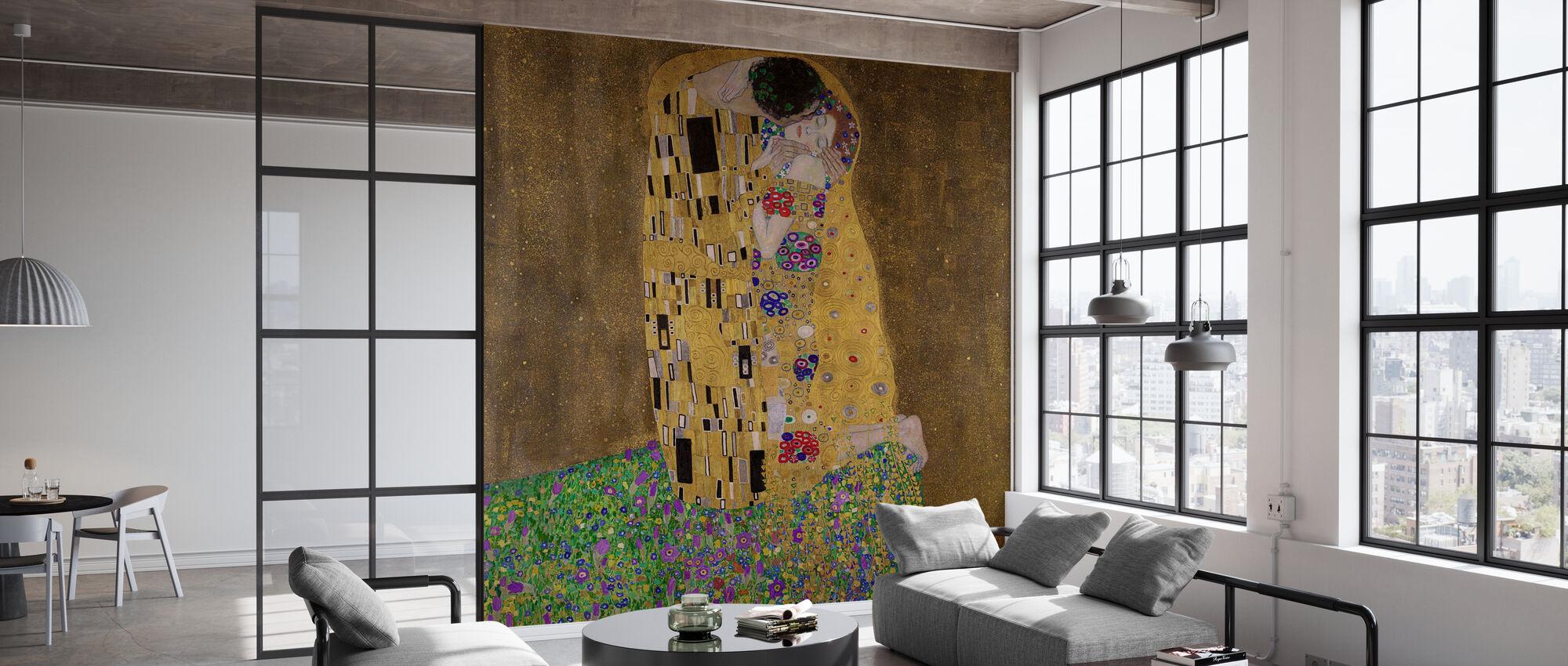 The Kiss, Gustav Klimt - Wallpaper - Office