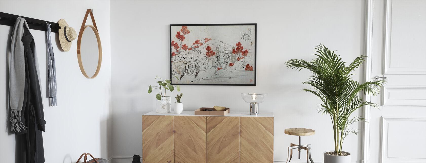 Porters Carry a Palanquin, Katsushika Hokusai - Poster - Hallway