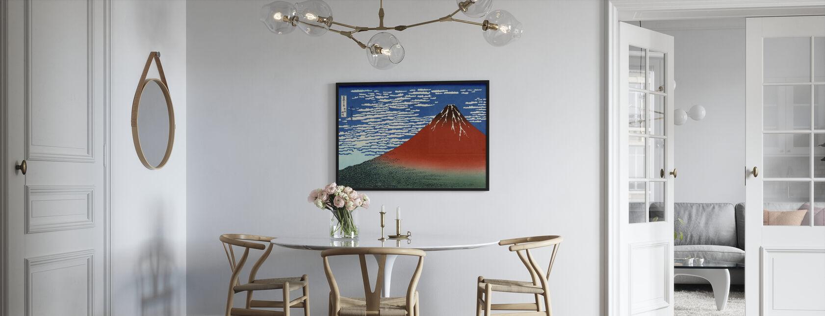 Red Fuji, Katsushika Hokusai - Poster - Kök