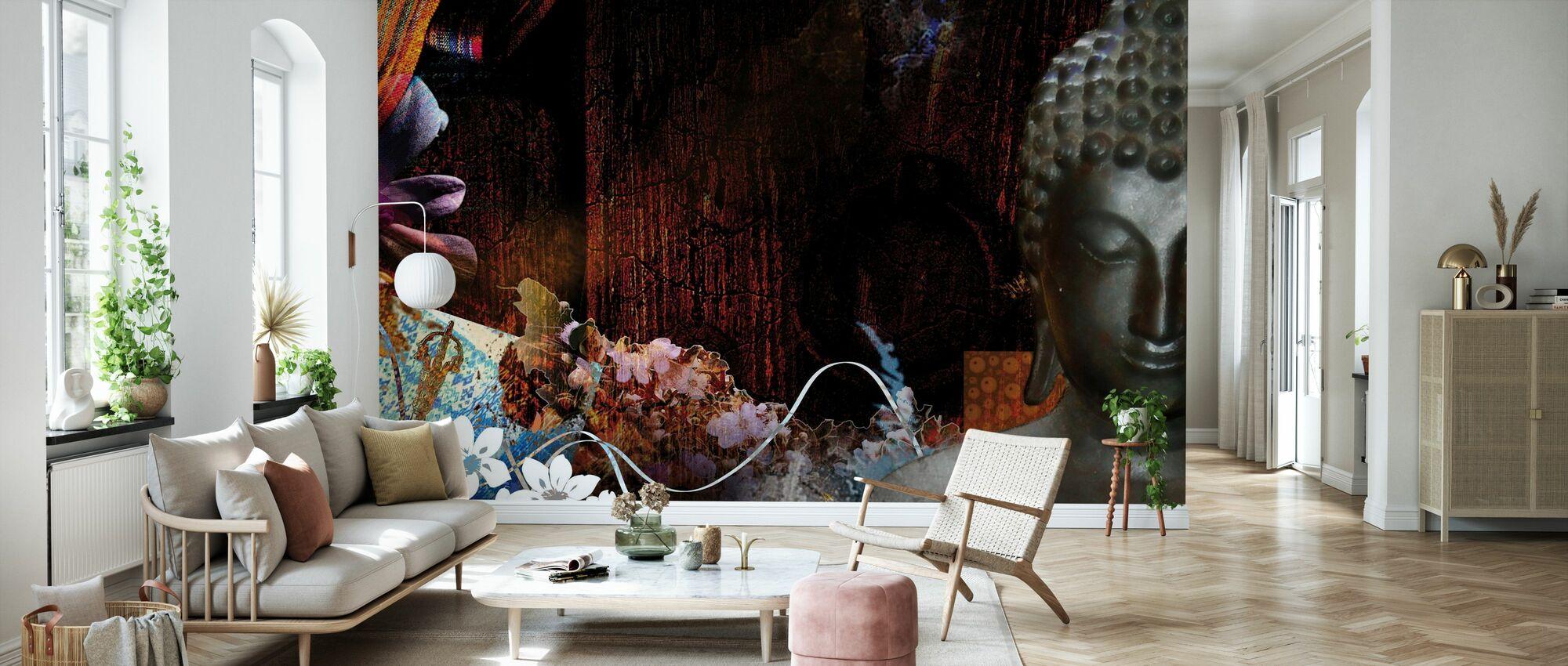 Buddha med blomster - Tapet - Stue