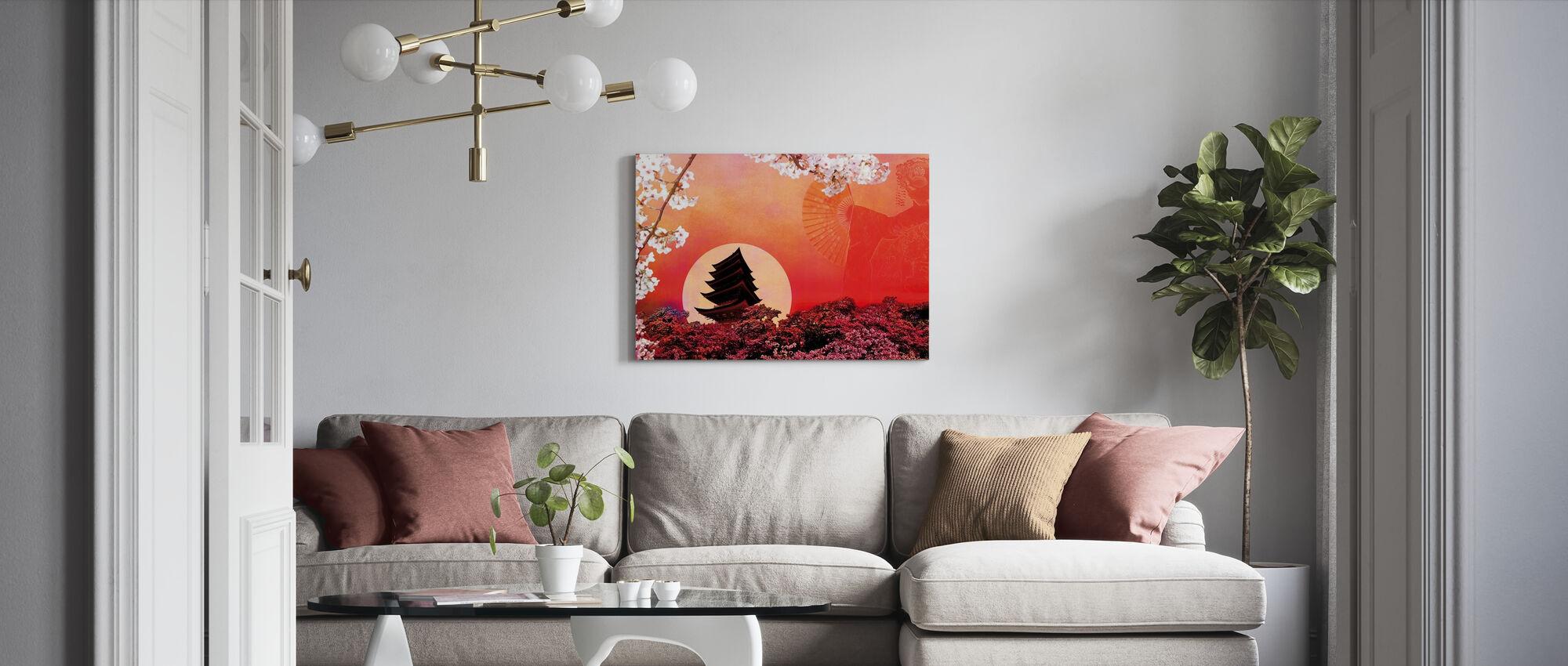 Rising Sun - Canvas print - Living Room