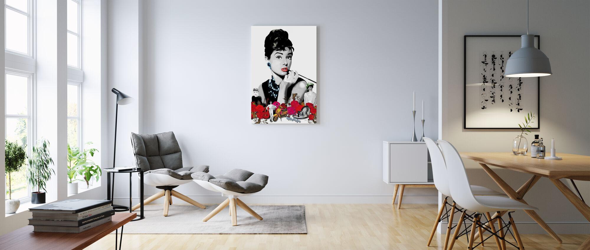 Hepburn - White - Canvas print - Living Room