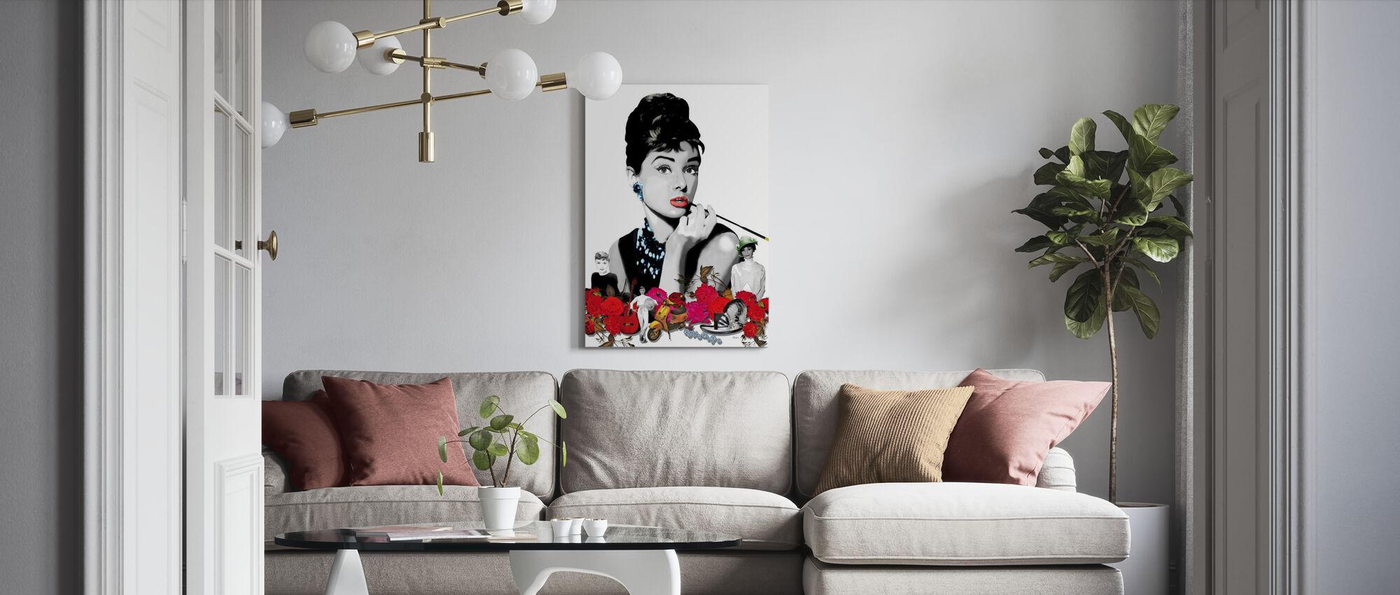 Hepburn - Wit - Canvas print - Woonkamer