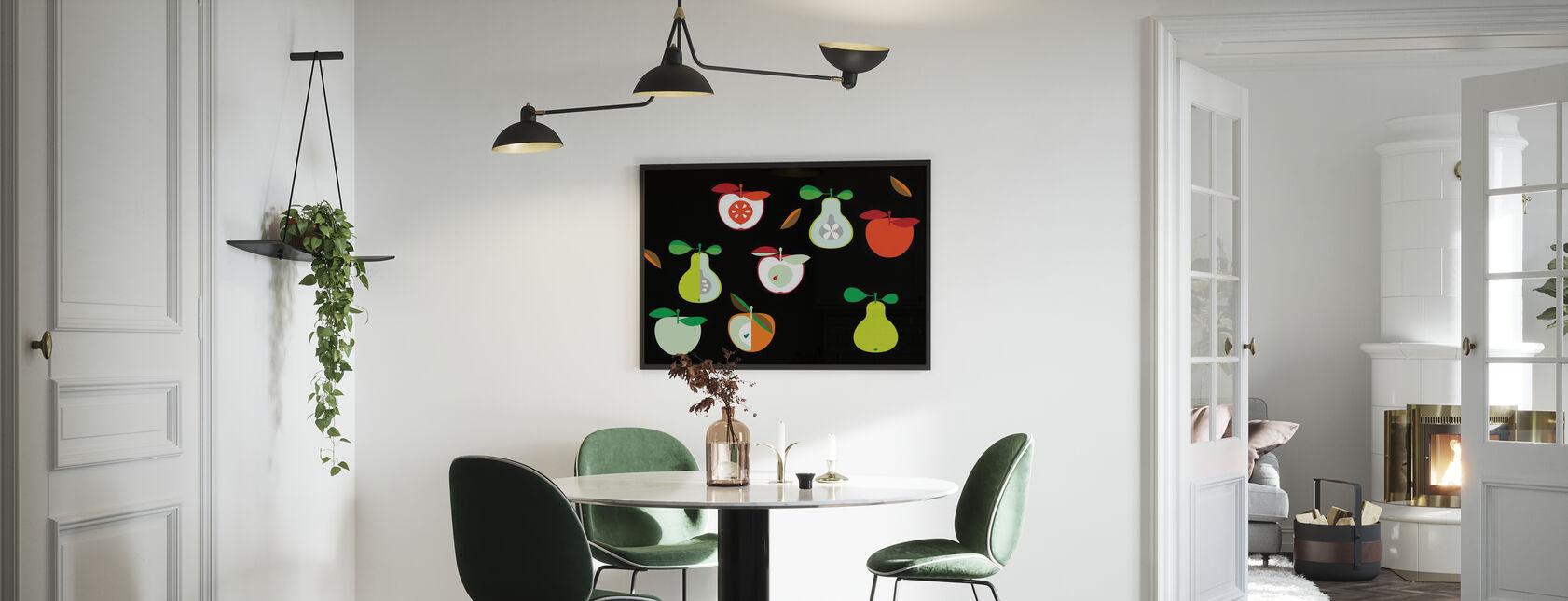 Kivik Eple og Pære - Innrammet bilde - Kjøkken