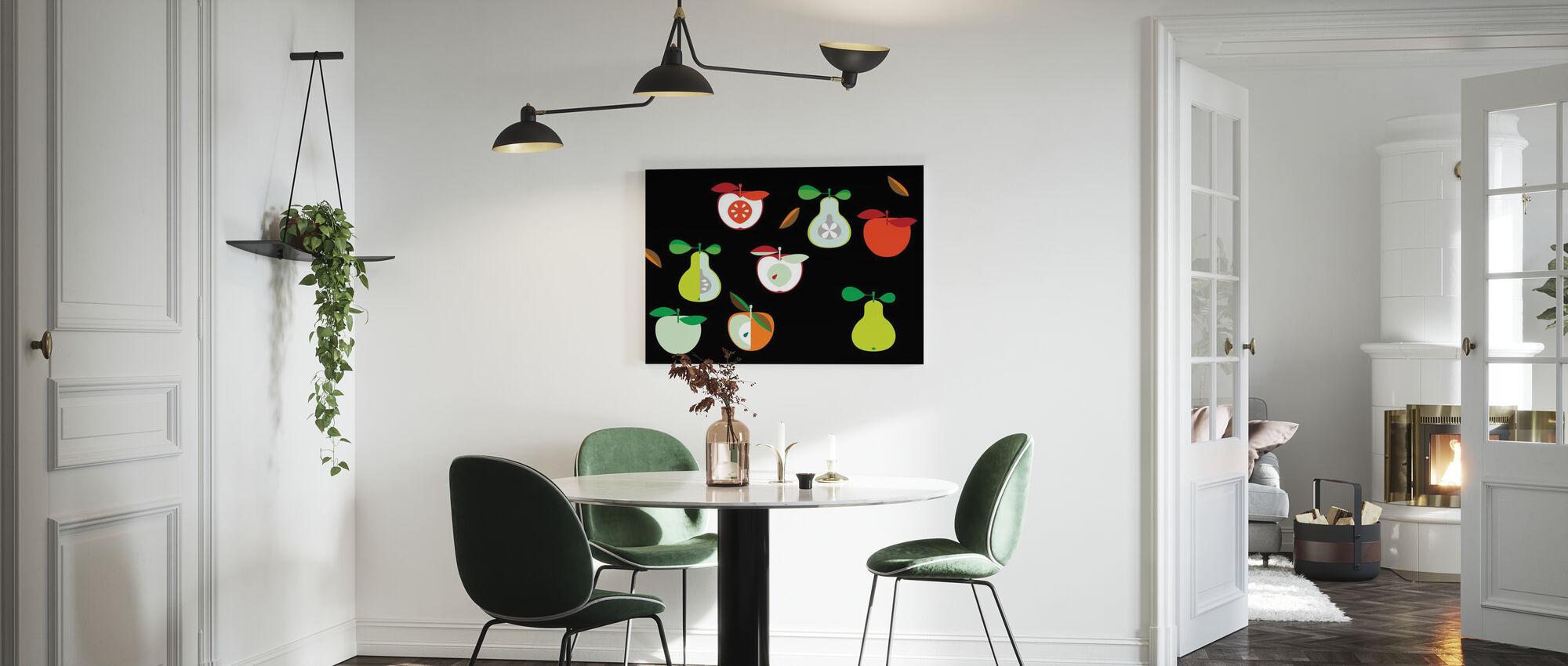 Kivik Eple og Pære - Lerretsbilde - Kjøkken