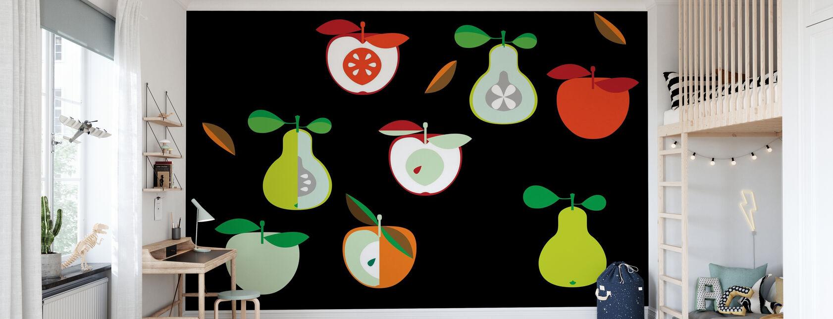 Kivik Jabłko i Gruszka - Tapeta - Pokój dziecięcy