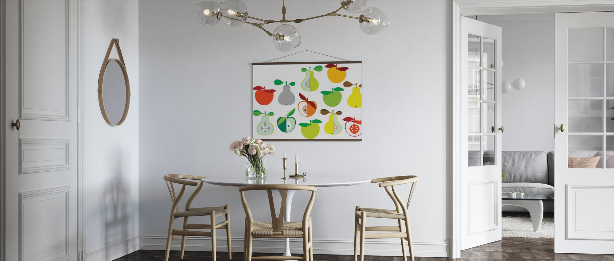 Kivik Apple and Pear - White - Poster - Kitchen