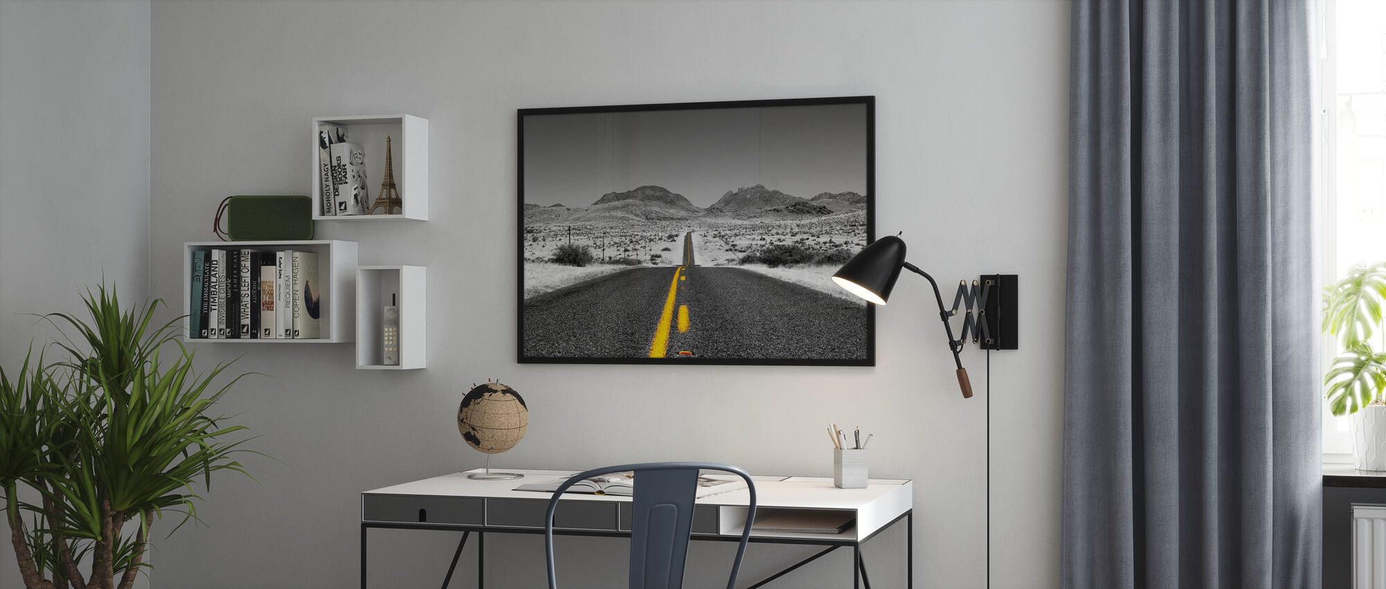 Lost Highway - Colorsplash - Framed print - Office